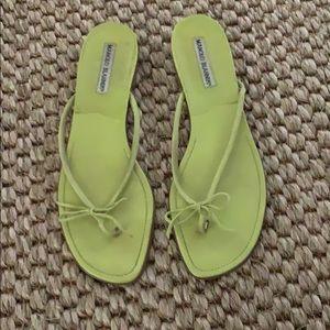 Manolo Blahnik flip flops
